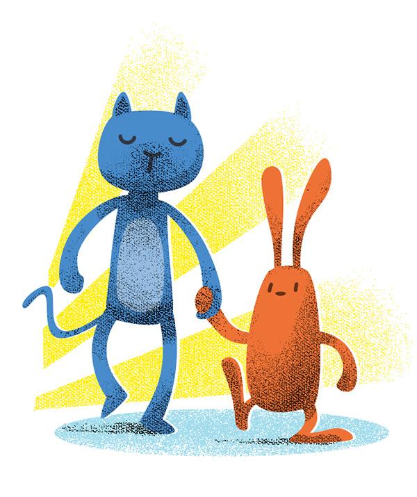 Katze, Hase, süß